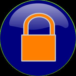 png freeuse library Padlock clipart blue. Orange clip art at