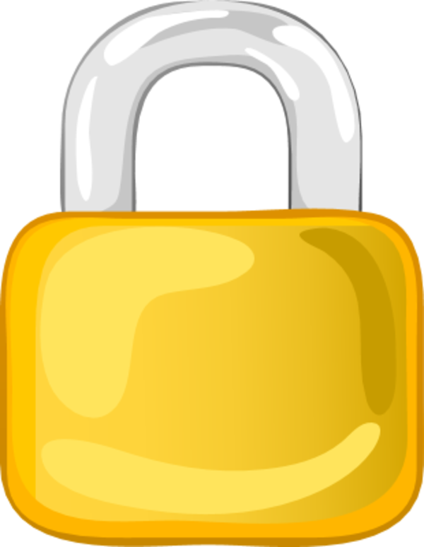 image royalty free library Padlock clipart golden. Gold rope chain