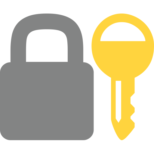 jpg library stock Closed Lock With Key Emoji for Facebook