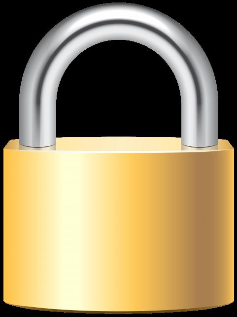image stock Padlock clipart pad lock. Gold clip art png