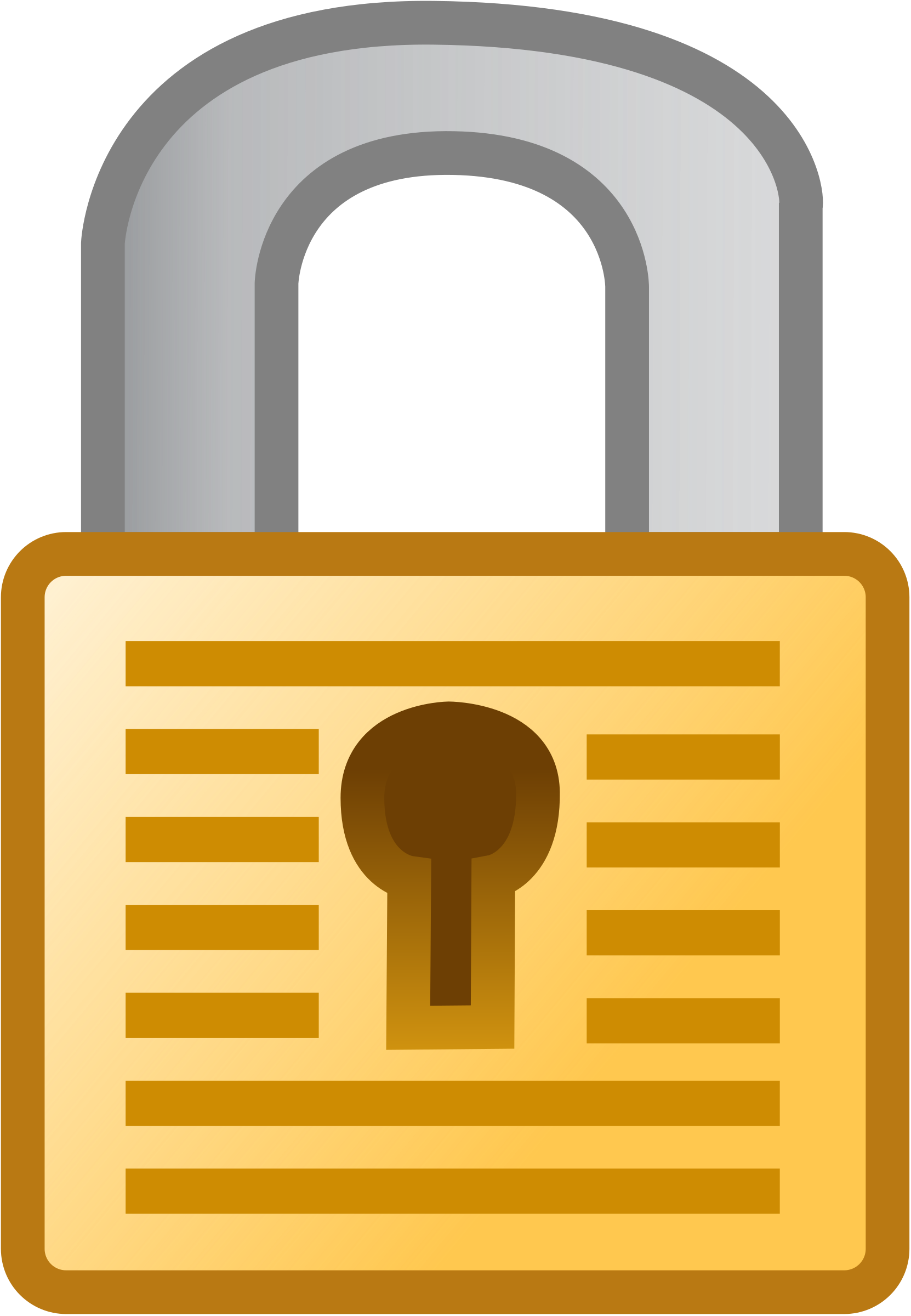 black and white library Padlock clipart.