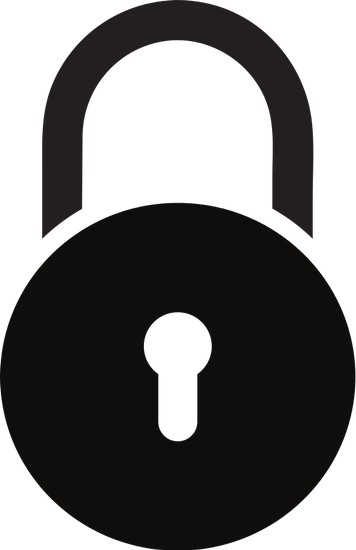 vector black and white stock Safe Lock Icon