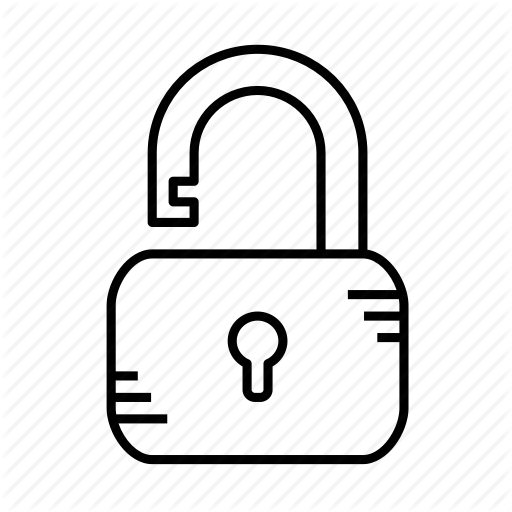 clip art black and white library Strokeicon Padlock