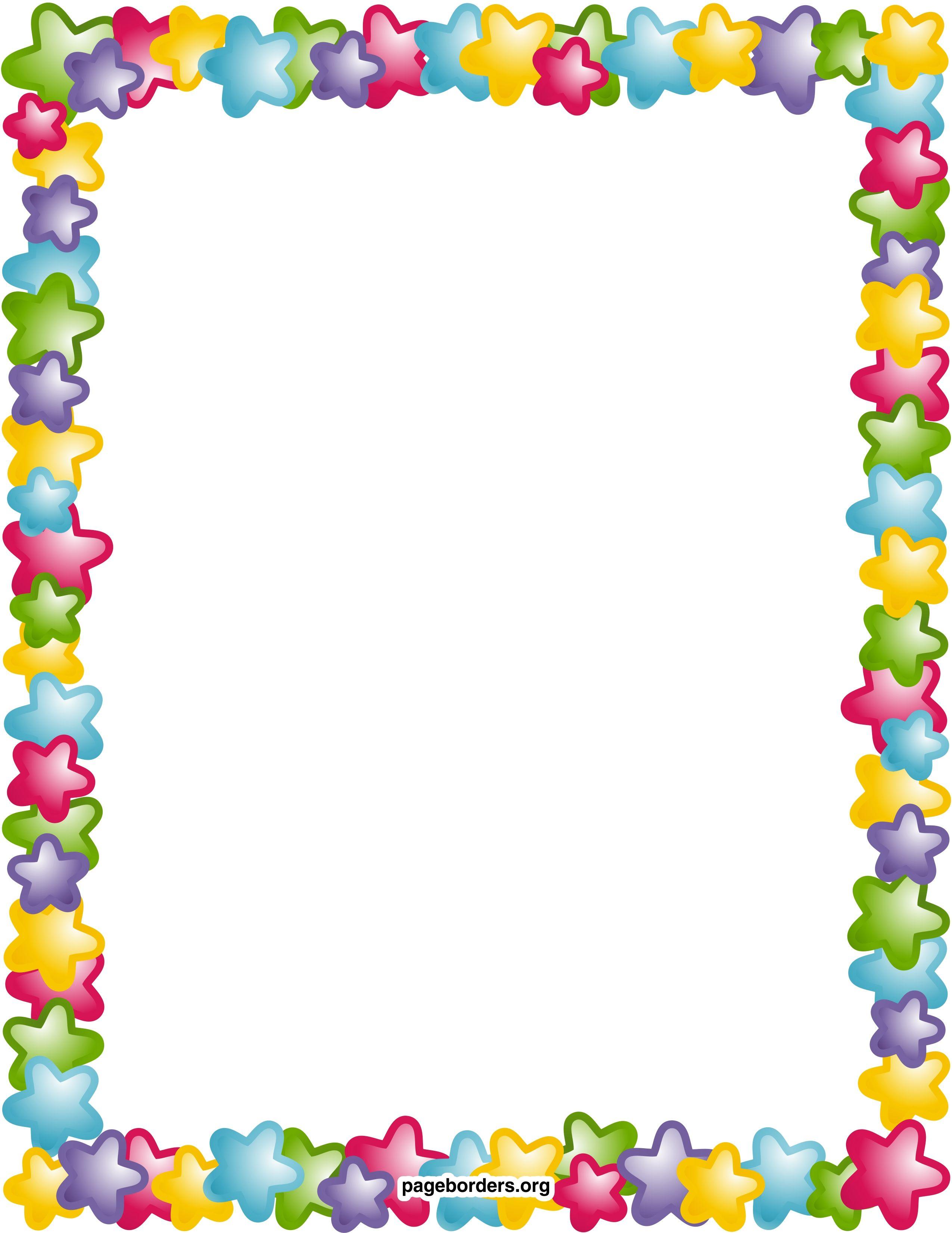 picture free Page borders clipart. Star border clip art