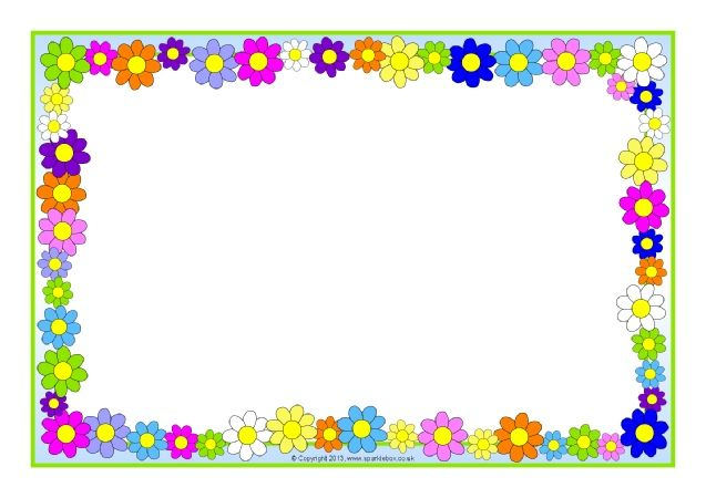 clipart transparent library Page borders clipart. Flowers and plants editable