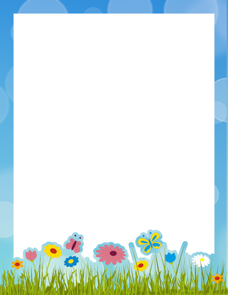 clipart free Pin by muse printables. Spring clipart borders
