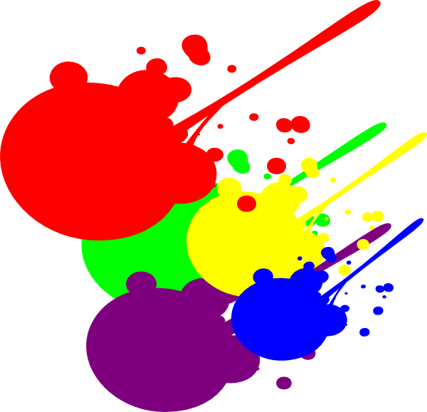 graphic royalty free Splatter clip art panda. Paint clipart