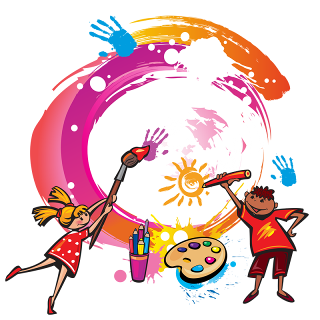 graphic free Vector cartoons kid. Paint kids painting png