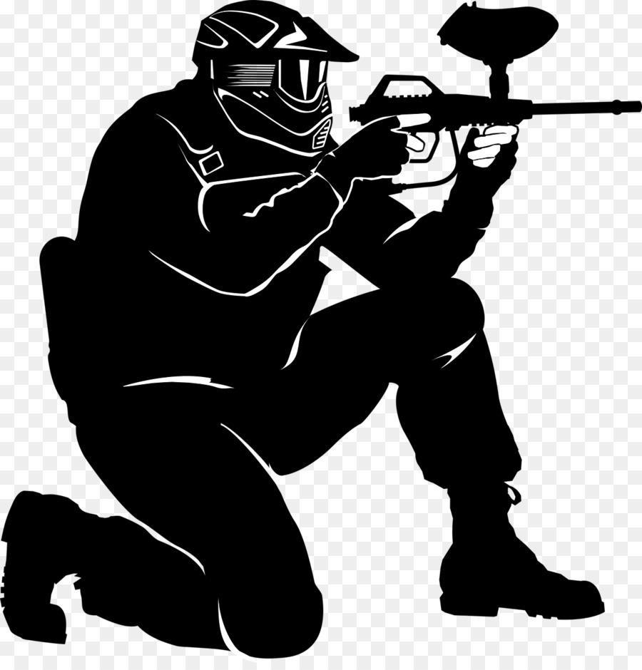 jpg freeuse library Paintball clipart transparent. Gun cartoon black silhouette.