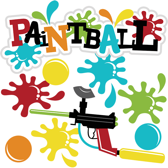 banner black and white download Paintball Clipart