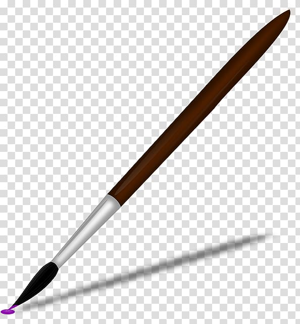 png royalty free Brown and black paint. Paintbrush transparent.
