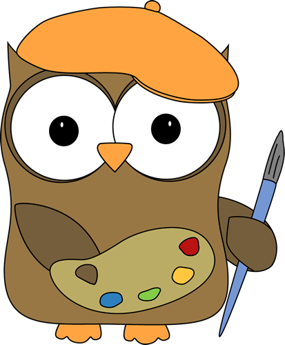png library stock Clipart art. Owl french artist painter.