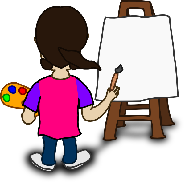 clipart transparent Art easel clipart. Painting animated pencil and