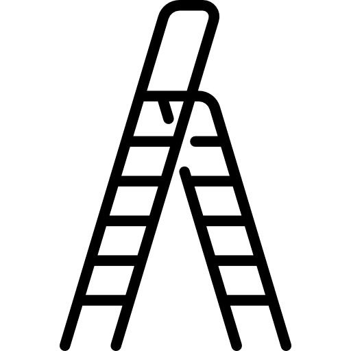 transparent stock Painter on ladder clipart. Png hook and with.