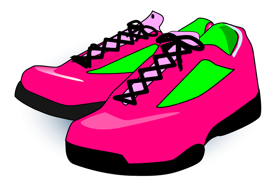 banner freeuse stock sneakers clipart pair #83473589