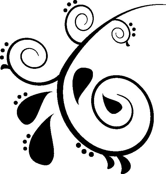 svg download Scrollwork clipart letterhead. Paisley clip art vector