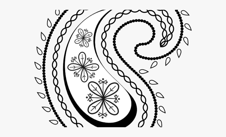 graphic free library Paisley clipart. Curve print look dia