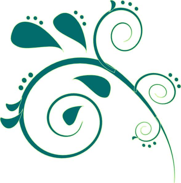 clip royalty free Teal clip art vector. Paisley clipart
