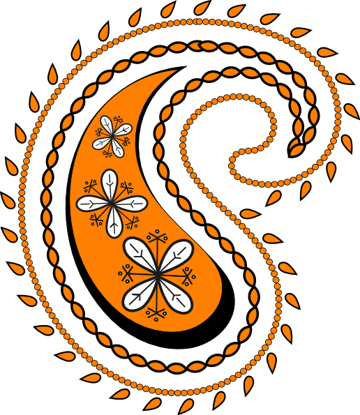 svg freeuse New clip art at. Paisley clipart