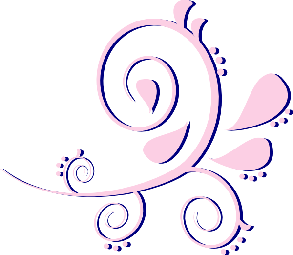 clipart download Curves pink on blue. Paisley clipart illustration