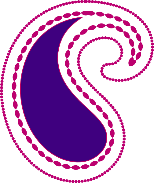 graphic library Paisley clipart paisley pattern. Pink purple clip art