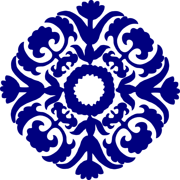 image free download Paisley clipart paisley pattern. Tile navy blue clip