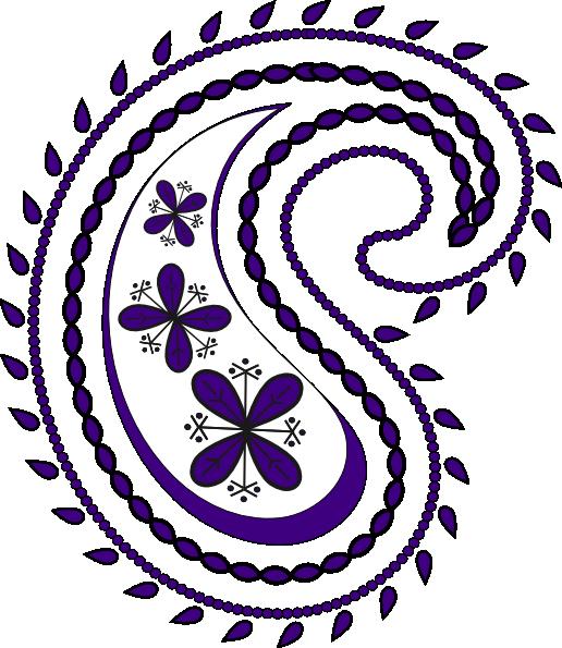 clipart royalty free Paisley clipart paisley pattern. Purple clip art at