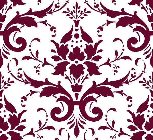svg stock damask clip art