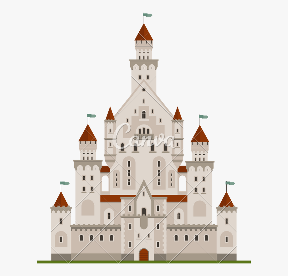 graphic black and white stock Palace clipart. Fairy tale castle royal