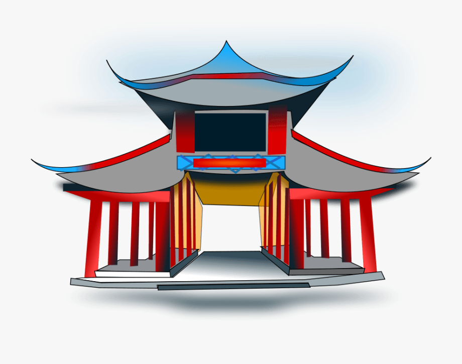 image transparent Image of cartoon chinese. Palace clipart china ancient