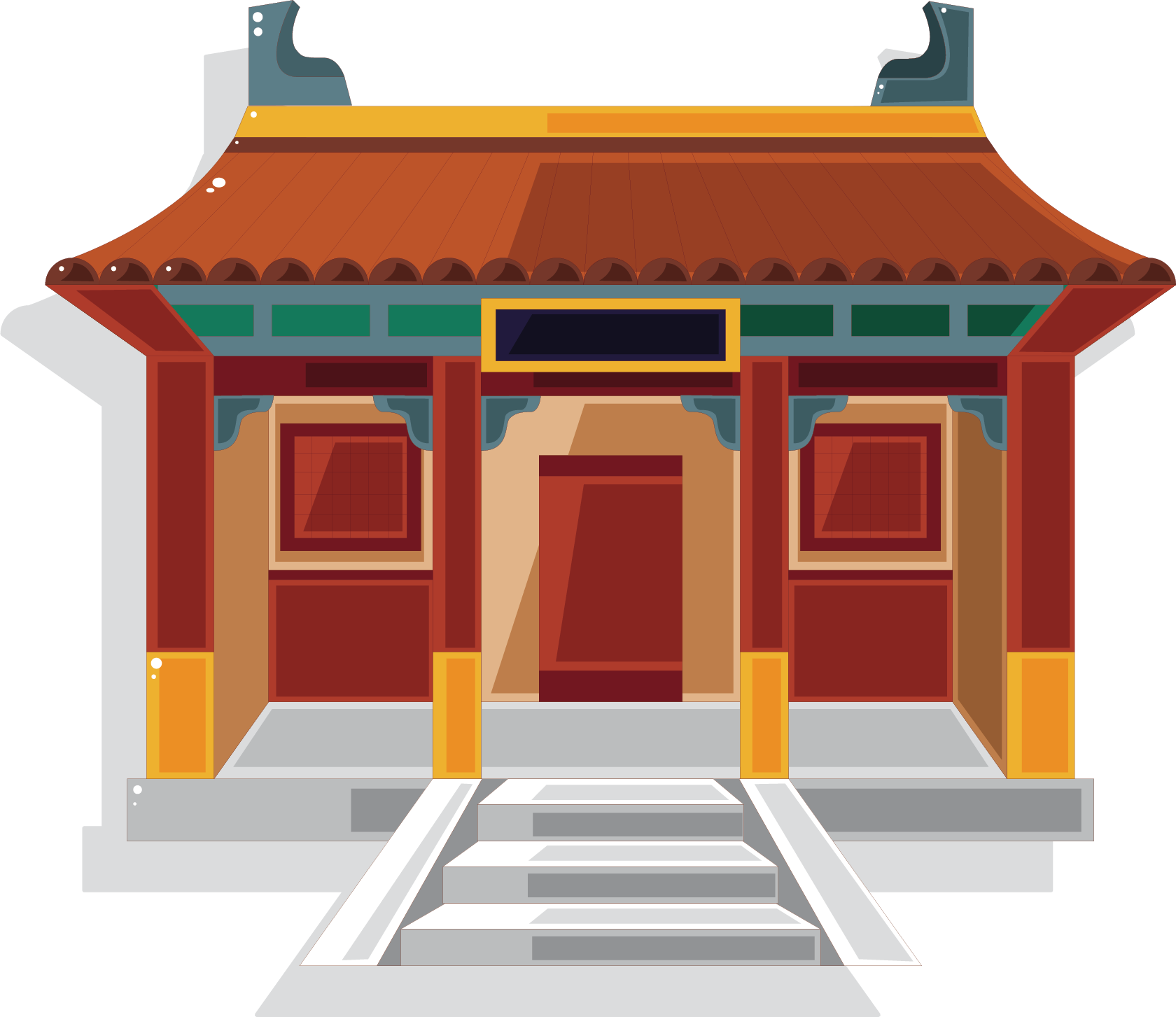 banner freeuse stock Palace clipart china ancient. Chinese temple pagoda clip