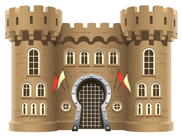 vector transparent library Vector door castle. Fortress png clipart image