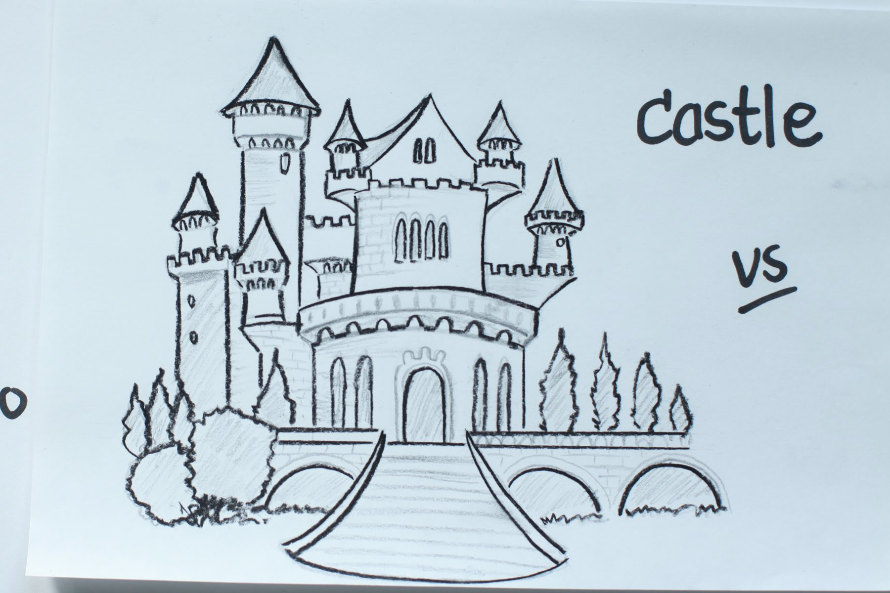 clipart black and white Fairytale Castle Sketch at PaintingValley