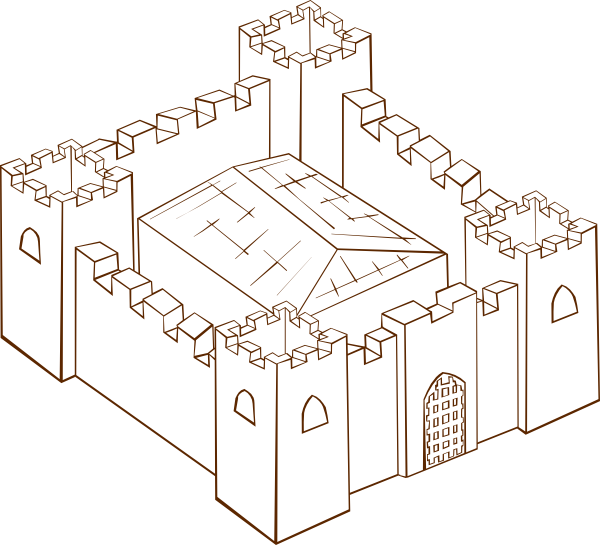 image transparent library cutaway drawing fortress #111173018