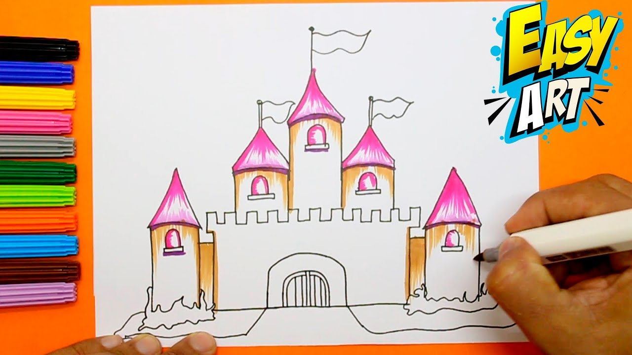 clipart freeuse library How to Draw princess castle for Girls