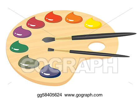 picture royalty free stock Vector stock paint illustration. Palette clipart