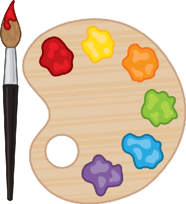 image library Palette clipart. Paintbrush and the arts