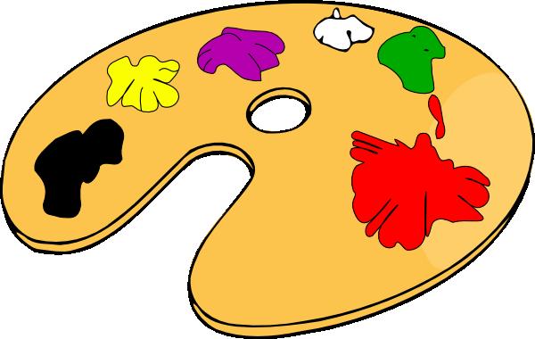 picture royalty free Painter color clip at. Art palette clipart.