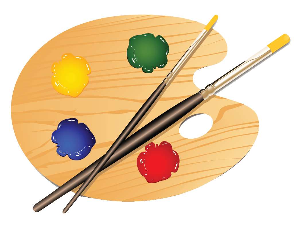 vector stock Art palette clipart. Gallia hometown herald artpaletteclipartart.