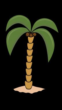 image free stock Palm drawing. Drawn tree easy draw.