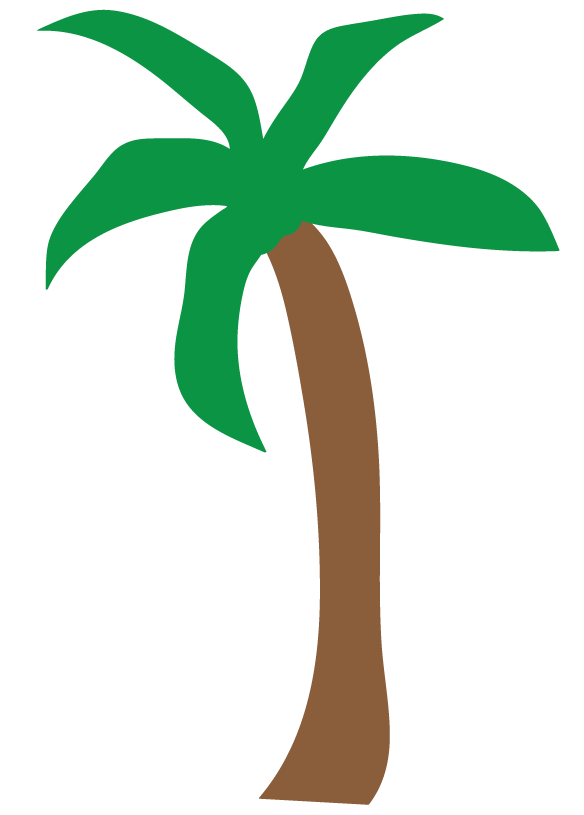 banner black and white Palm Trees Translucent Clipart