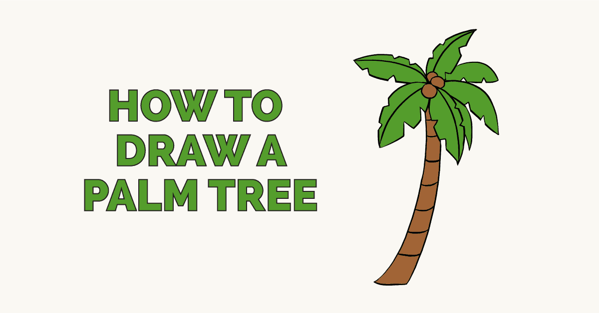 image royalty free library Palm drawing. How to draw a