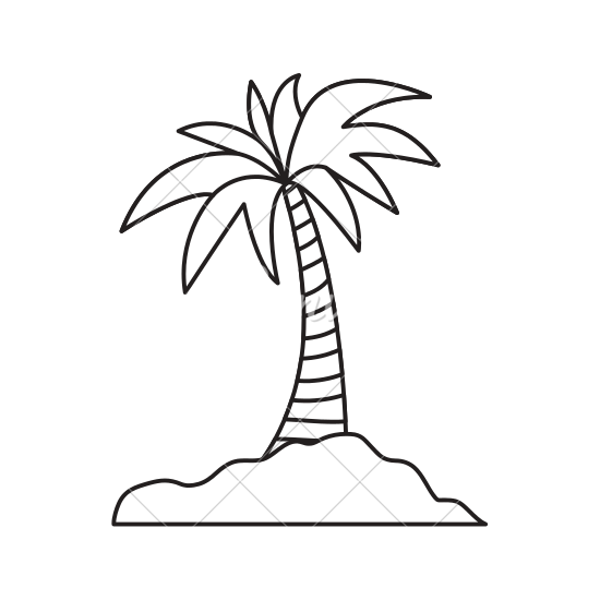 svg freeuse stock palm drawing island #100795635