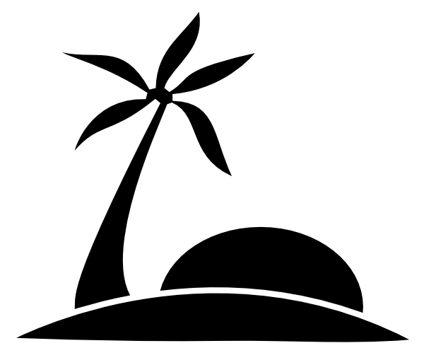 banner black and white stock Palm trees clipart black and white. Tree beach panda free