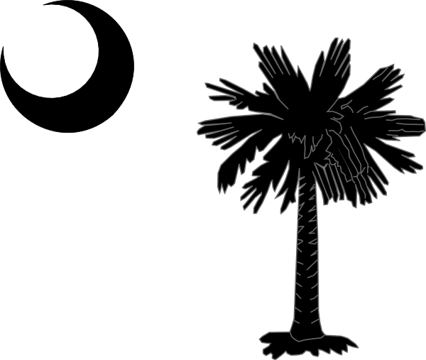 clip stock Black and white moon clipart. South carolina state flag