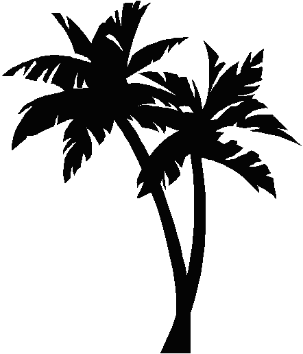 picture stock Palm trees clipart black and white.  collection of png