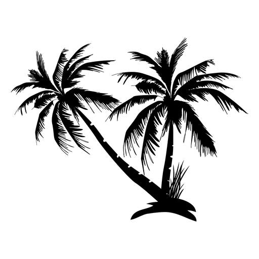 graphic library stock Complex palm tree silhouette