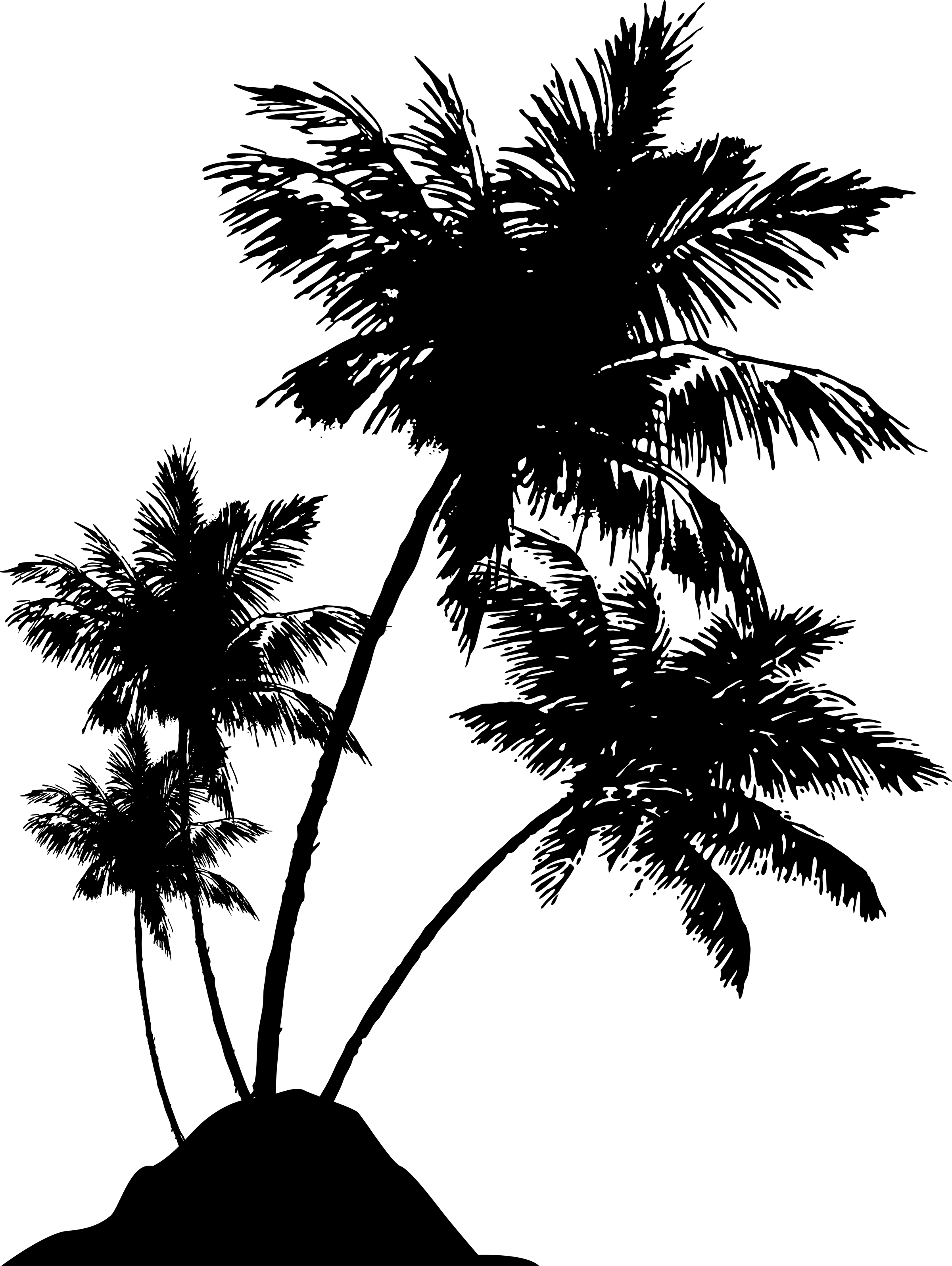 jpg transparent stock Silhouette cakepins com image. Boats drawing palm tree