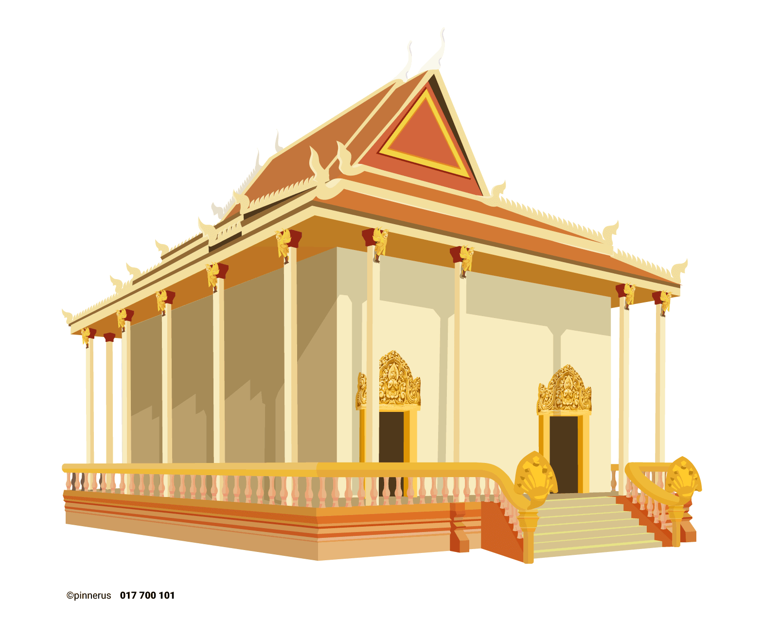graphic free download Khmer pagoda illustration
