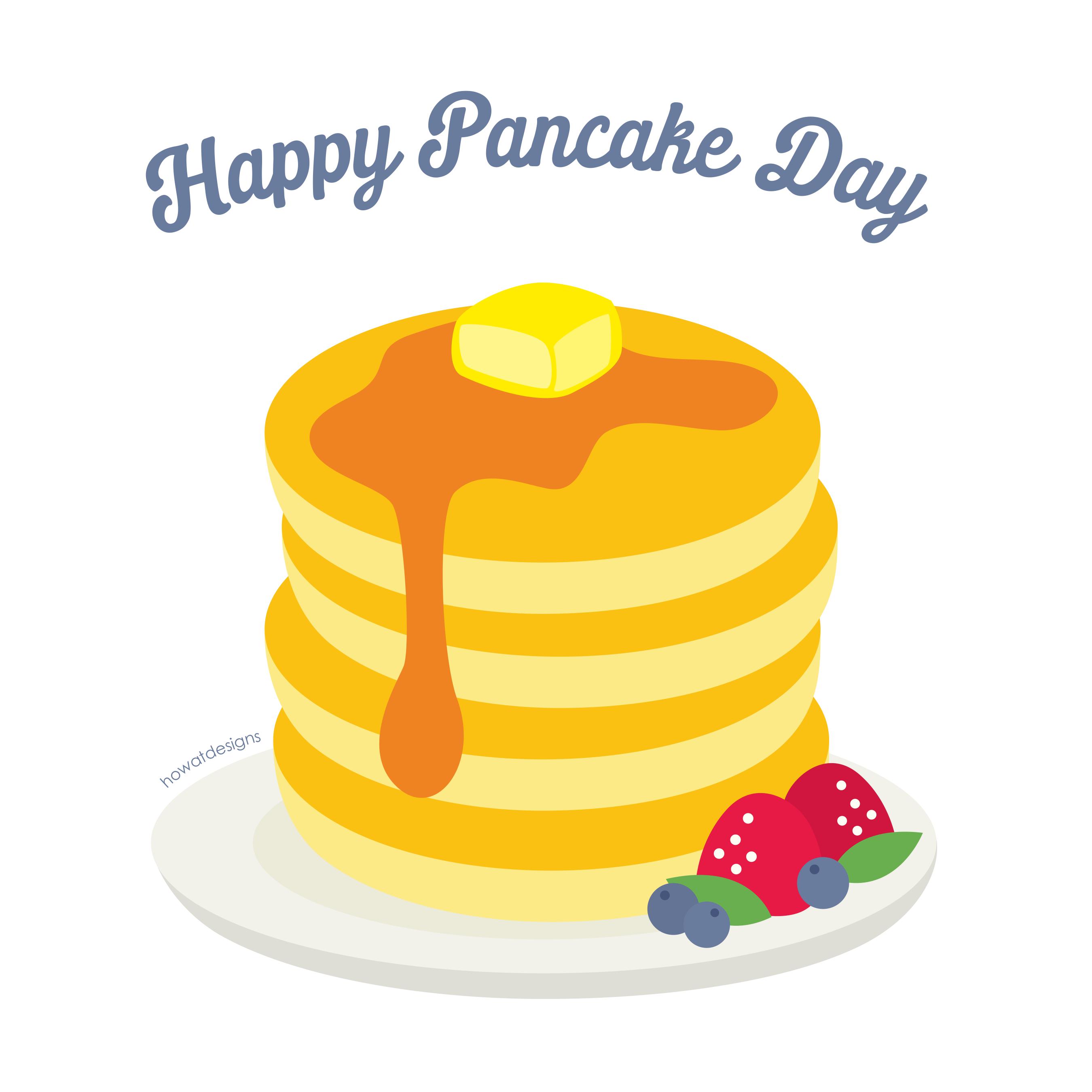 jpg black and white stock Cute fun illustration howatdesigns. Pancake vector.